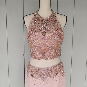 ALYCE PARIS Blush Formal Prom Pageant Dress 8 NWT